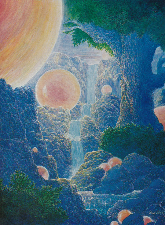 Gilbert Williams 'Valley of the Suns' (1975). Image from Celestial Visitations- The Art of Gilbert Williams (1979)